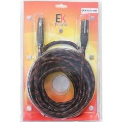 CABLE XLR-XLR EK AUDIO TELA...
